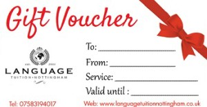 Gift Certificate-LanguagTuition New